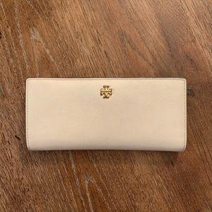 Troy Burch white bifold wallet